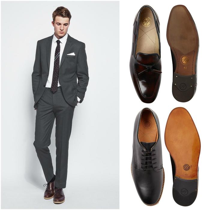 suit nam mau xam - dark grey suit & shoes - elle man