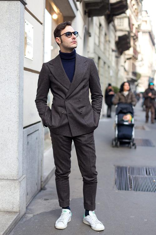 suit nam mau xam - dark grey suit & stan - elle man