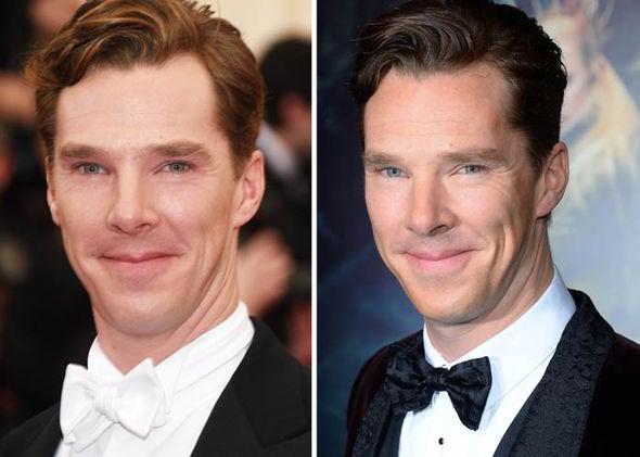 Những chiếc nơ khiến Benedict trông rất bảnh trai