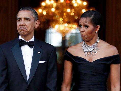 Cả hai vợ chồng Tổng thống cũng có những khoảnh khắc vui nhộn. Ảnh được chụp năm 2011