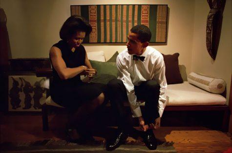 Barack và Michelle Obama tại nhà riêng của họ vào tháng 8/2004