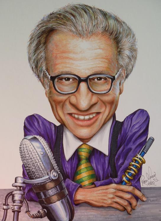 Làm chủ nghệ thuật giao tiếp với Larry King, biếm họa Larry King.