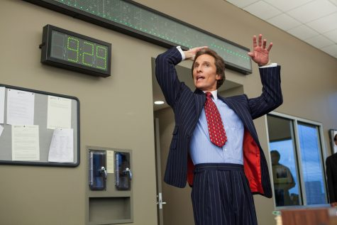 Matthew McConaughey is Mark Hanna in THE WOLF OF WALL STREET, from Paramount Pictures and Red Granite Pictures. TWOWS-00307