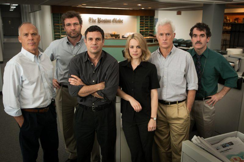 Đội ngũ Boston Globe trong phim điện ảnh.