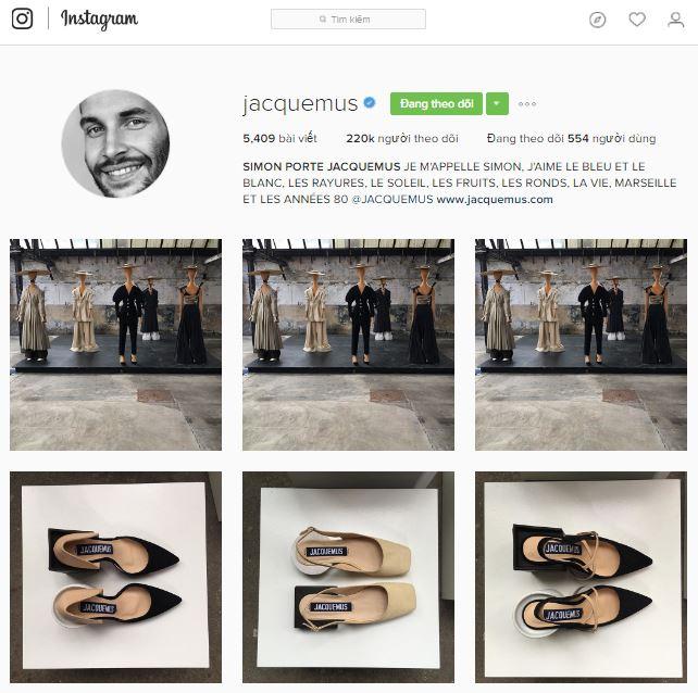 Tài khoản instagram của Simon Porte Jacquemus.