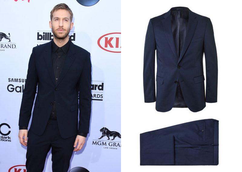 Phong cách mặc suit nam: Calvin Harris