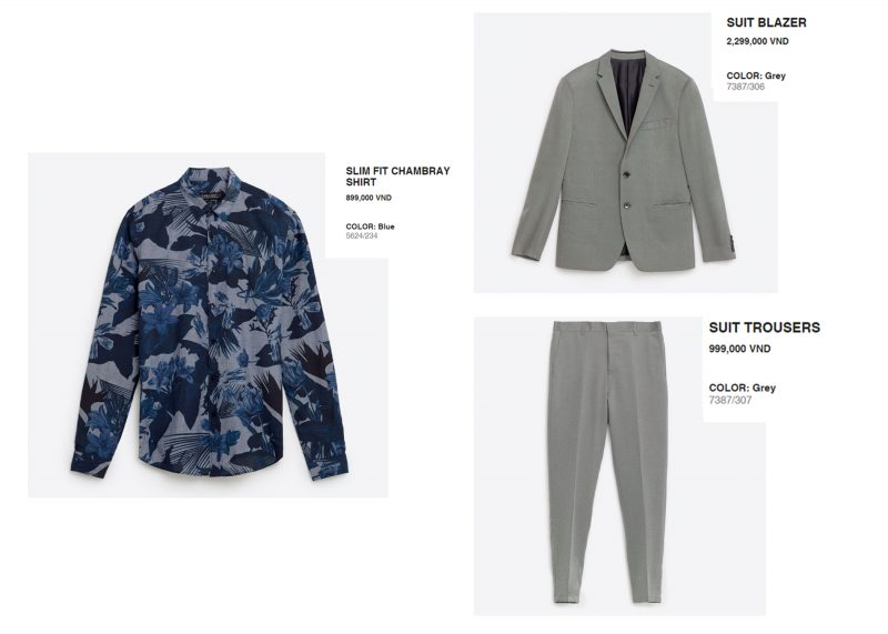 Phong cách mặc suit nam: Zara man
