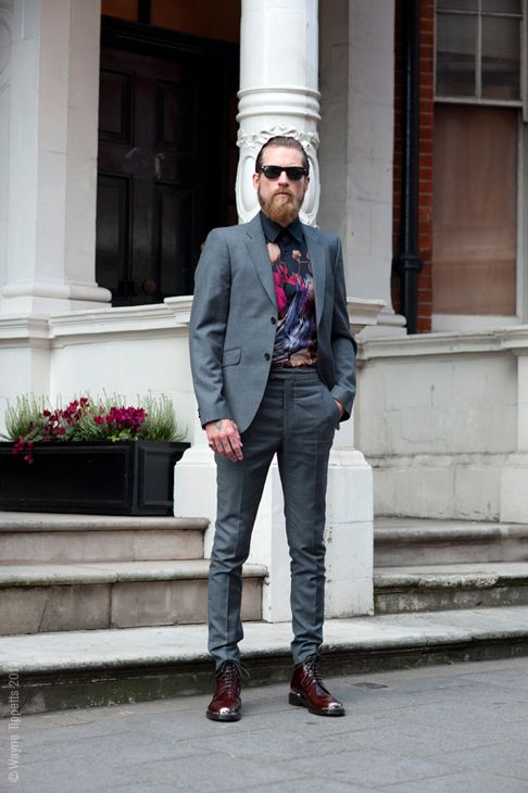 Phong cách mặc suit nam: Justin O'shea