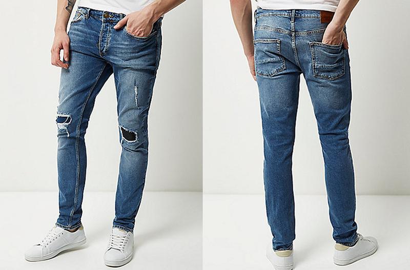 Quần jeans hàng hiệu River Island.