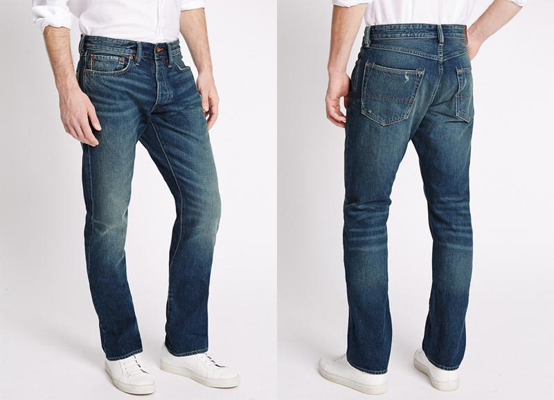 Quần jeans hàng hiệu: Marks & Spencer.