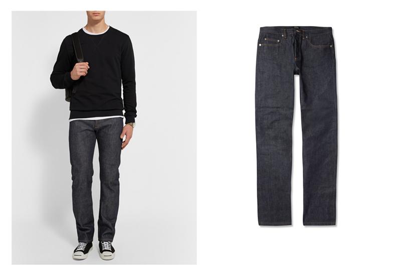 xu hướng quần jeans nam cuối năm 2016: quần A.P.C