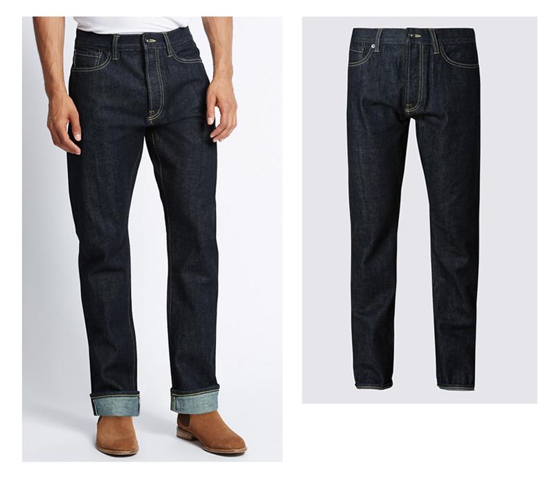 xu hướng quần jeans nam cuối năm 2016: quần Marks & Spencer.