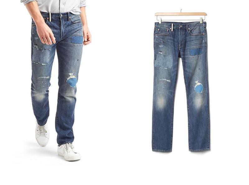 xu hướng quần jeans nam cuối năm 2016: quần GAP.