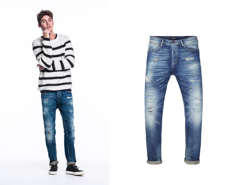 xu hướng quần jeans nam cuối năm 2016: quần của Scotch & Soda.