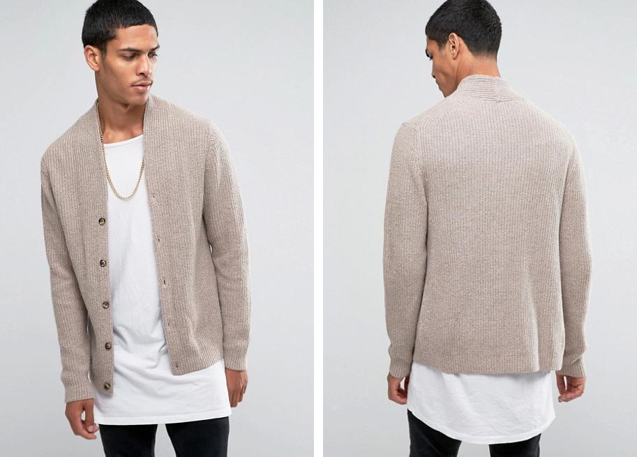 Áo khoác cardigan của Asos.