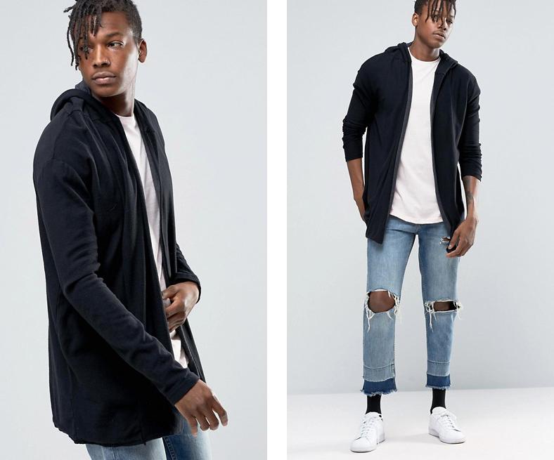 Áo khoác cardigan màu đen của Pull & Bear.