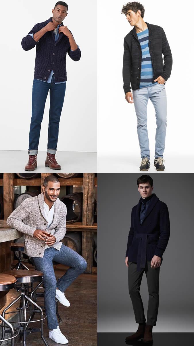 Áo khoác cardigan và các kiểu giày.
