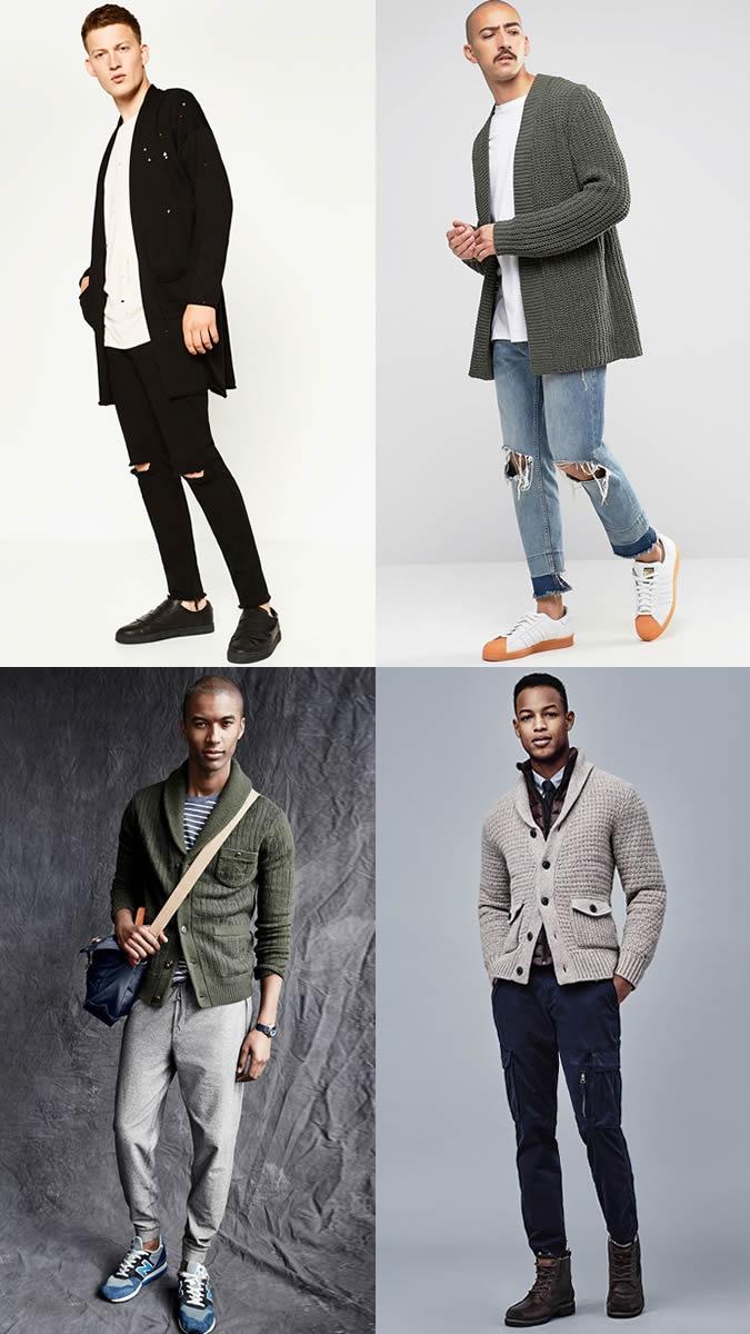 Áo khoác cardigan phối cùng các kiểu quần.