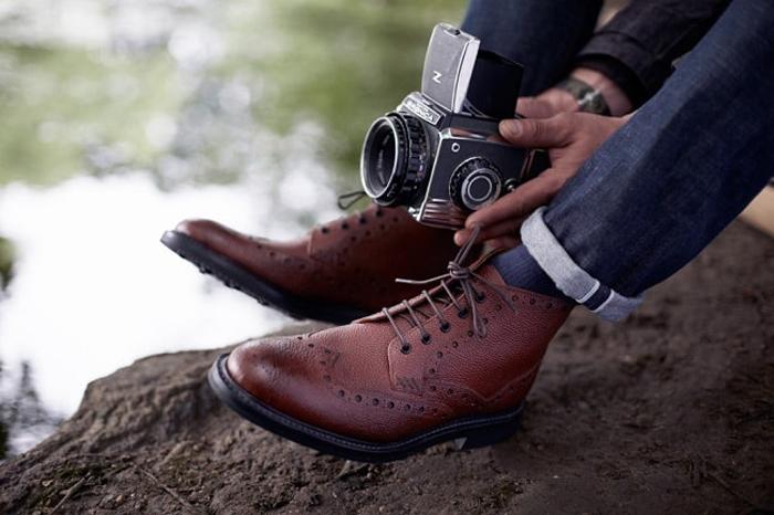 Kiểu giày nam Thu-Đông 2016: Brogues Boots.