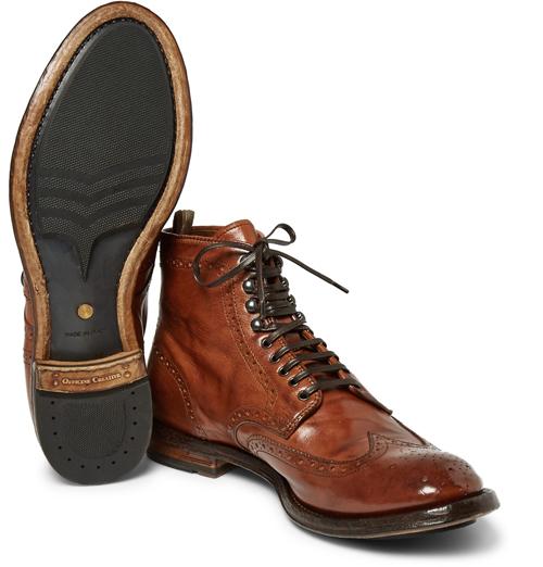 Kiểu giày nam Thu-Đông 2016: Brogues Boots của Officine Creative.