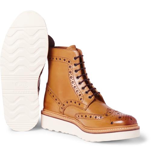 Kiểu giày nam Thu-Đông 2016: Brogues Boots của Brenson.