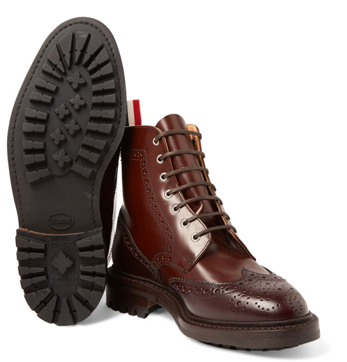 Kiểu giày nam Thu-Đông 2016: Brogues Boots của Thom Browne.