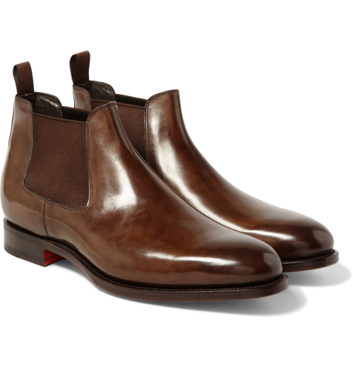 Kiểu giày nam Thu-Đông 2016: Chelsea Boots của Santoni.