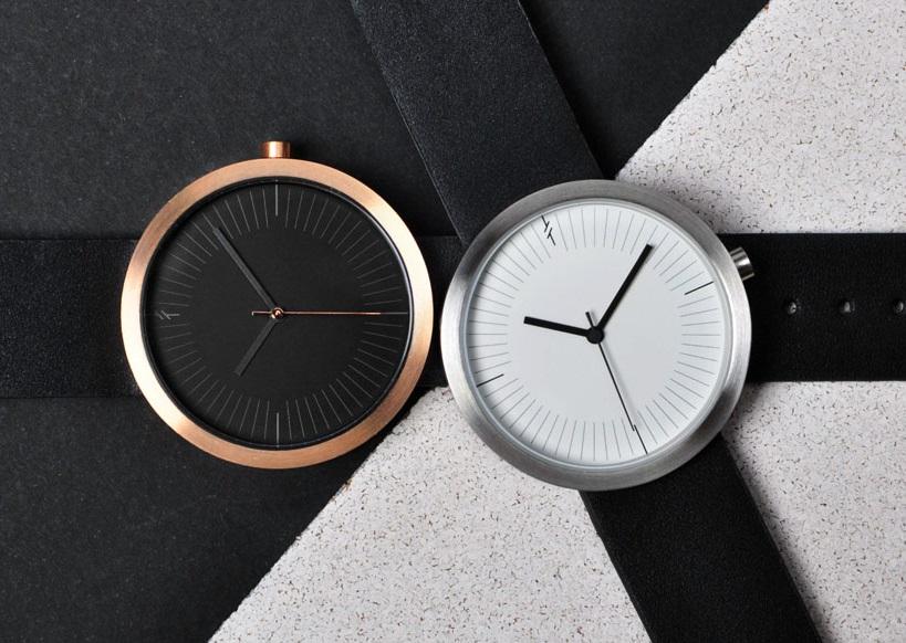 đồng hồ đẹp simpl sở hữu mặt trắng và mặt đen