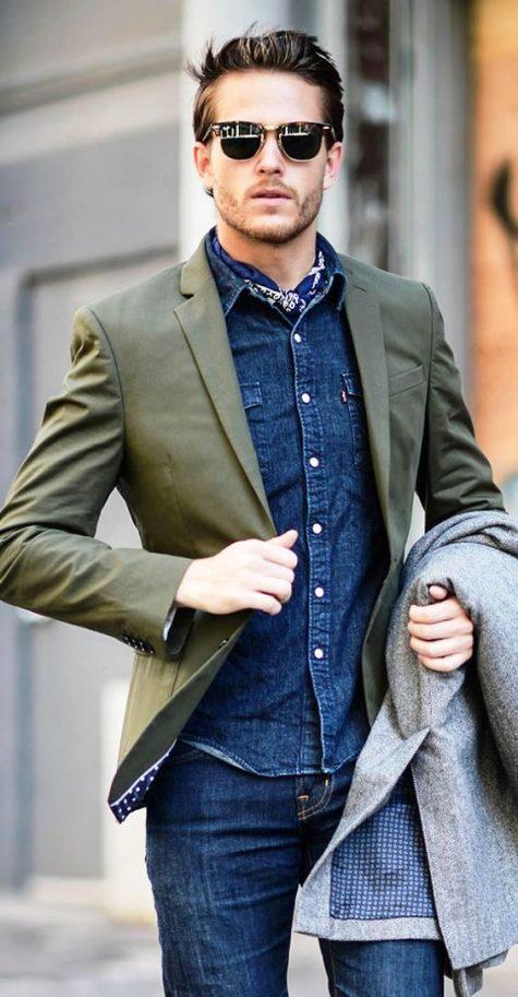 Quần Jeans, áo Denim và áo Blazer khoác ngoài