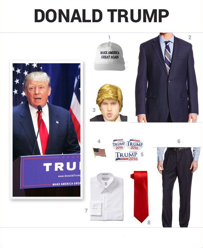 Hình tượng hóa trang Halloween ấn tượng bạn nên thử: Hóa trang thành Trump