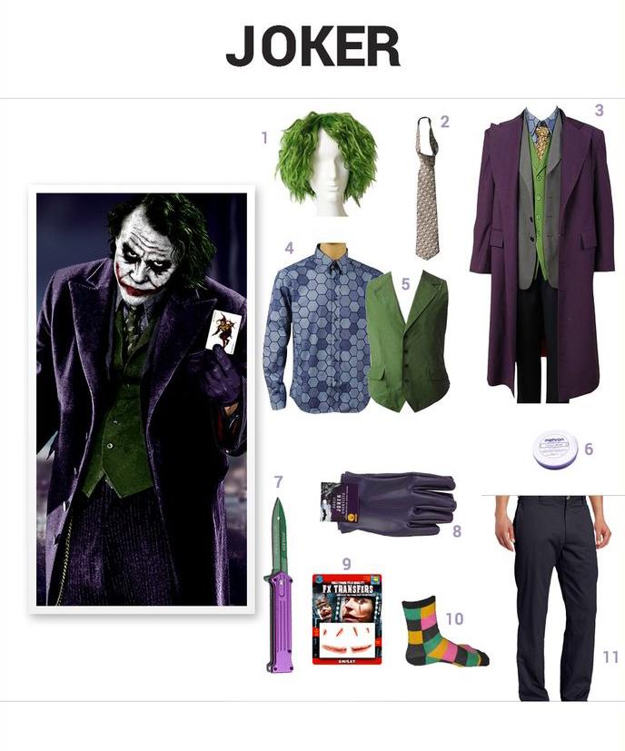 Hình tượng hóa trang Halloween ấn tượng bạn nên thử: Trang phục Joker