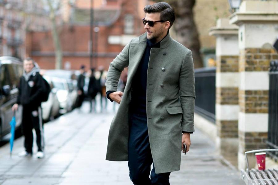 quy tắc cài nút đồ suit nam: áo khoác ngoài.