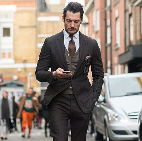 quy tắc cài nút đồ suit nam: suit 1 hàng nút, loại 1 nút.