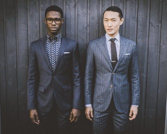 quy tắc cài nút đồ suit nam: suit 1 hàng nút, loại 2 nút.