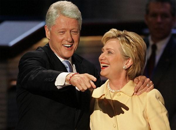 ứng cử viên tổng thống Hoa Kỳ: Bill Clinton & Hillary Clinton.