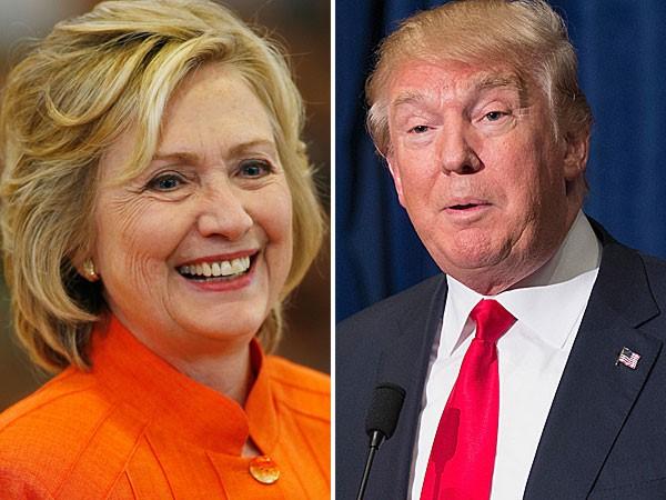 ứng cử viên tổng thống Hoa Kỳ: Donald Trump & Hillary Clinton.