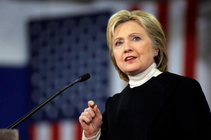 ứng cử viên tổng thống Hoa Kỳ:Hillary Clinton hùng biện.