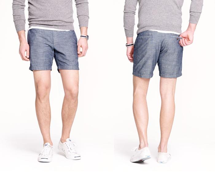 thờ trang nam họa tiết chấm bi: quần short của J. Crew.