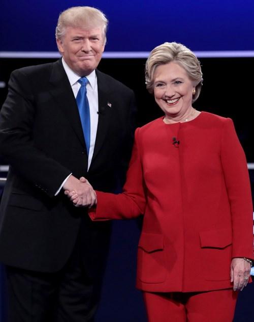 tổng thống Mỹ Donald Trump và Hillary Clinton.
