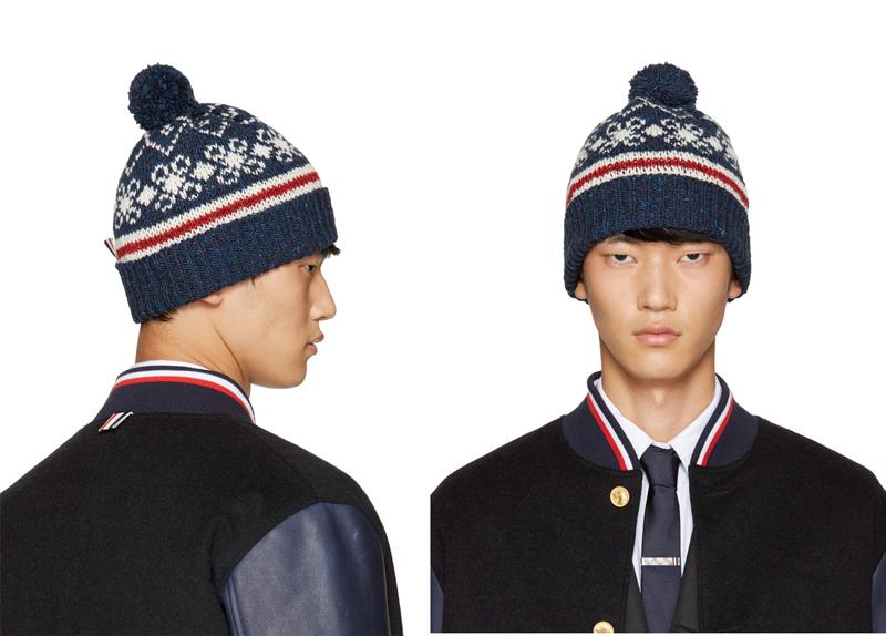 phong cách thời trang mùa Đông: mũ benie của Thom Brownie.