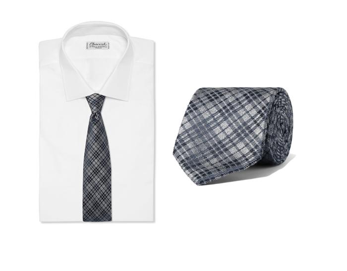 phong cách thời trang mùa Đông: cà vạt Charvet.