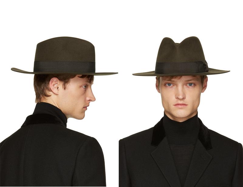 phong cách thời trang mùa Đông: mũ fedoras của Saint Laurent.