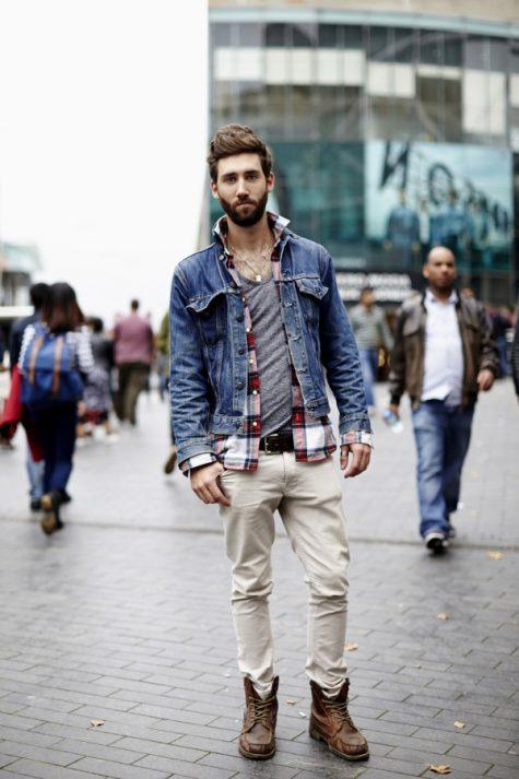 Quần kaki nam, item không bao giờ lỗi mốt: áo khoác jeans nam.