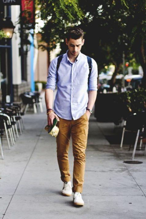 Quần kaki nam, item không bao giờ lỗi mốt: balo nam đẹp.