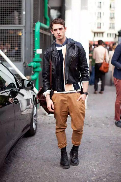 Quần kaki nam, item không bao giờ lỗi mốt: áo khoác da nam.