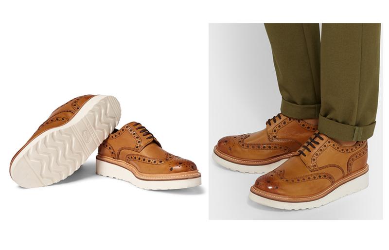 giày nam đẹp Brogue Grenson.