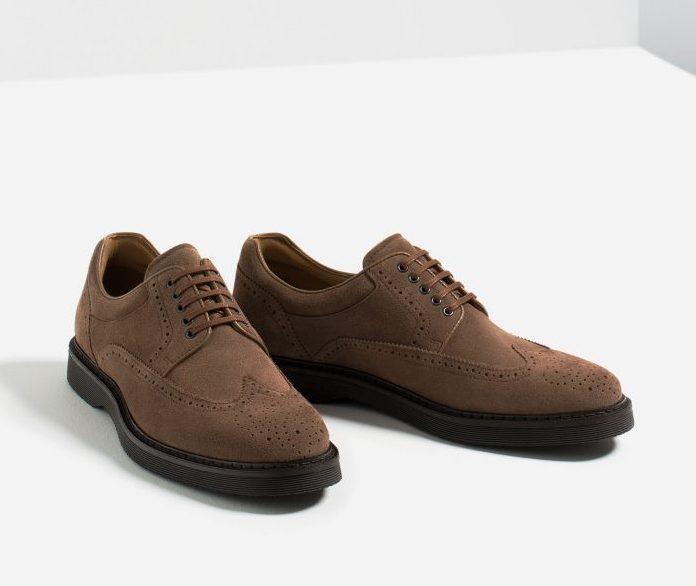 giày nam đẹp Brogues Zara - elle man