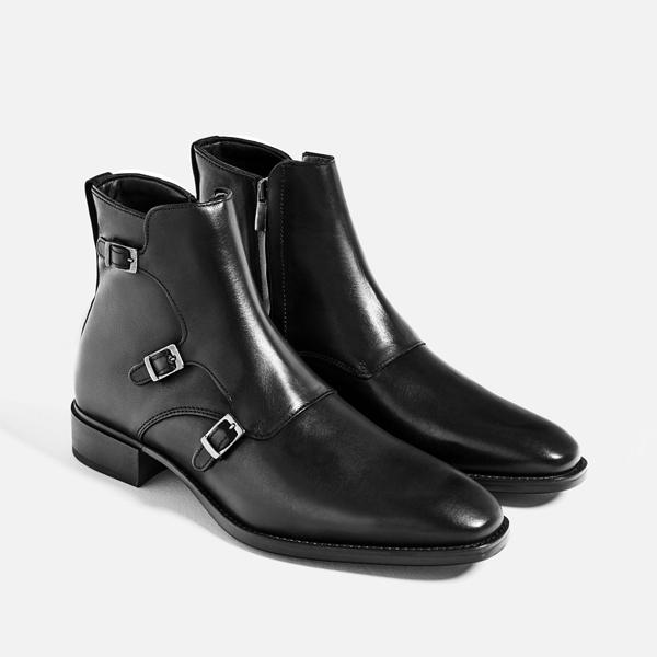 giày nam đẹp bốt Zara - elle man