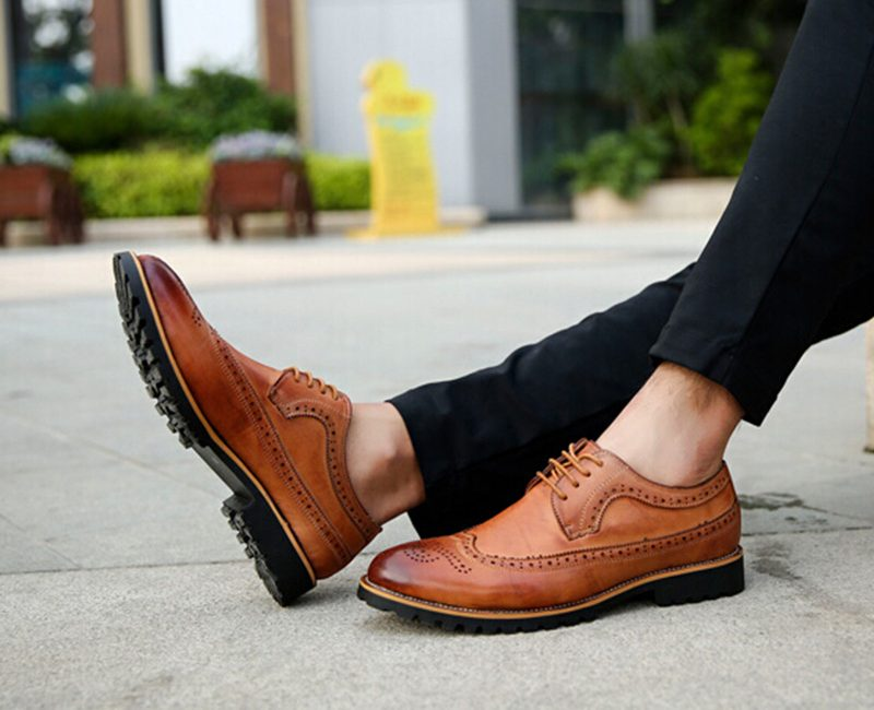 giày nam đẹp Brogues - elle man