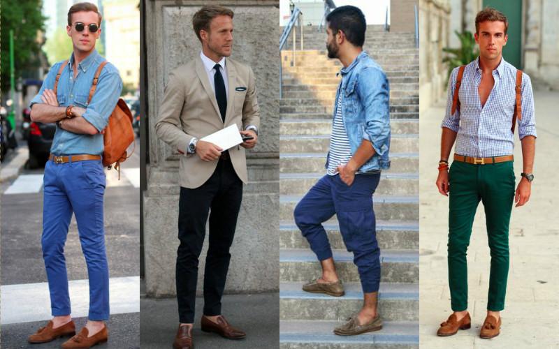 giày nam đẹp Loafers - elle man